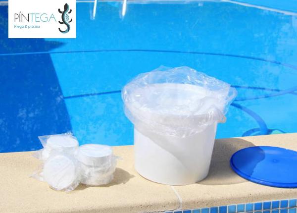 productos quimicos, desinfectantes para piscinas en pintega xardins